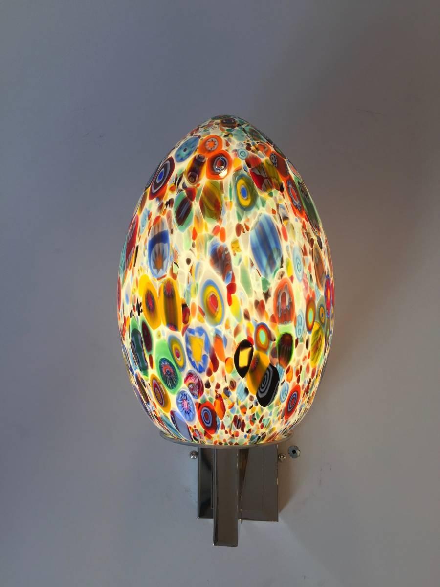 b56987303ef4ff Lampe à poser oeuf en verre de Murano Applique oeuf en verre de Murano